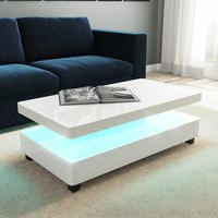 White Gloss Coffee Table with LED - Tiffany