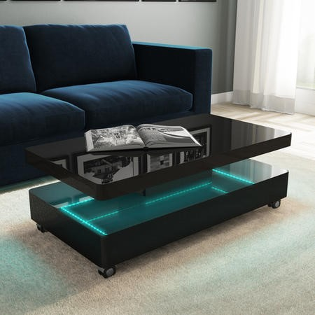Rectangular Coffee Table in Black Gloss - Tiffany