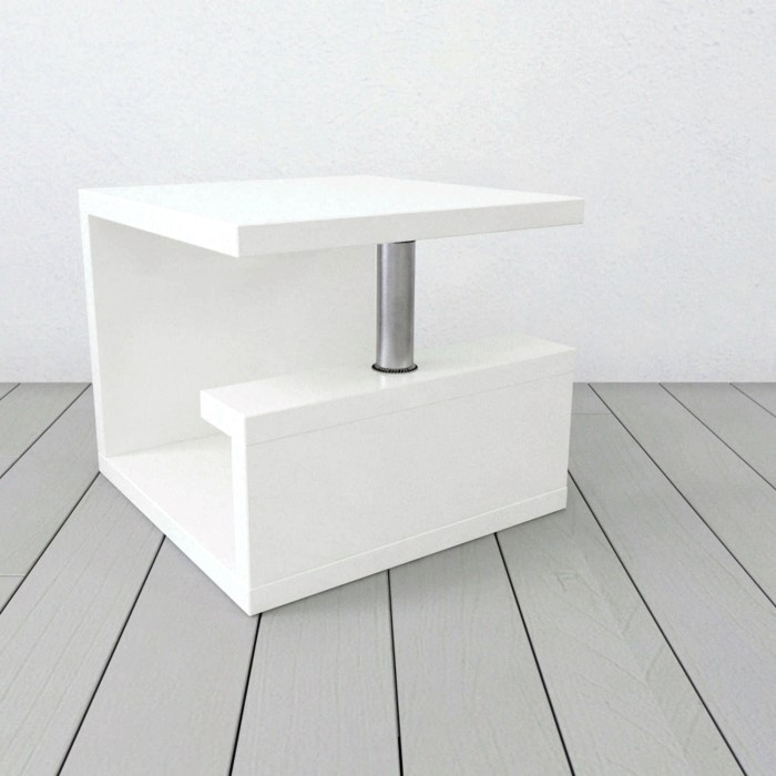 Tiffany high gloss white square lamp table furniture123 tiffany high gloss white square lamp table aloadofball Gallery