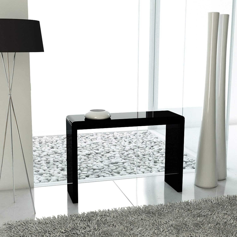 GRADE A1 Tiffany Black High Gloss Narrow Console Table