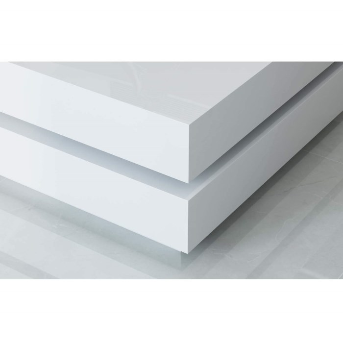 Rectangle High Gloss White Coffee Table With Led Lighting: High Gloss White Coffee Table With LED Lighting