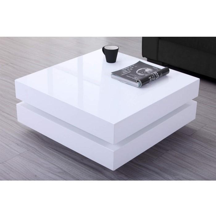 High Gloss White Coffee Table With Led Lighting Tiffany Range