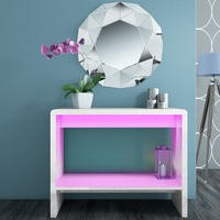 Tiffany White High Gloss LED Console Table