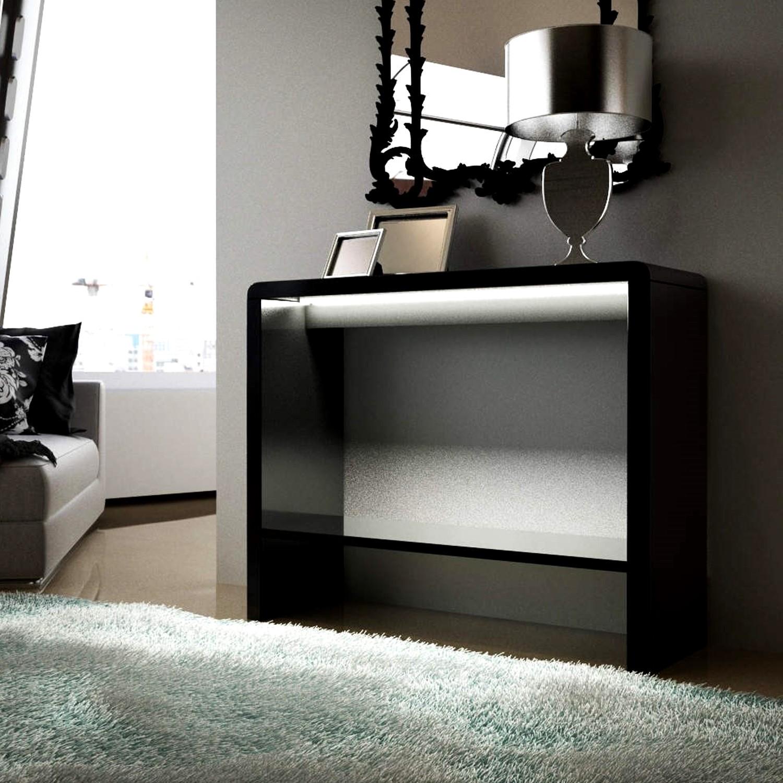 Tiffany Black High Gloss LED Console Table Furniture123