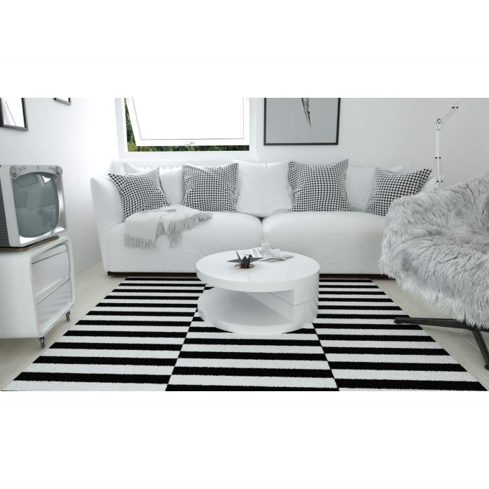 Tiffany Led Round Top White High Gloss Coffee Table Xcm: High Gloss Round White Coffee Table