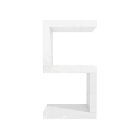 Artemis White High Gloss Geometric Side Table