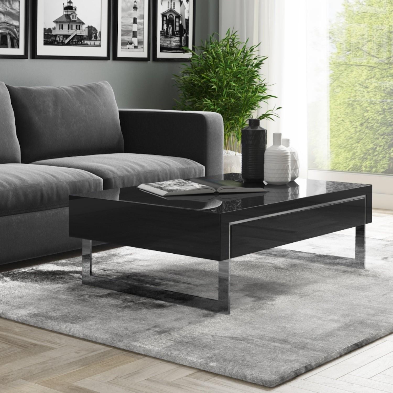 Excellent Evoque Black High Gloss Coffee Table With Storage Drawers Inzonedesignstudio Interior Chair Design Inzonedesignstudiocom