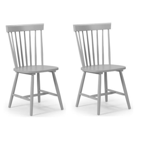 Julian Bowen Pair of Torino Lunar Grey Dining Chairs