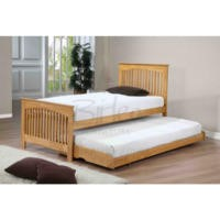 Birlea Furniture Toronto Single Bed With Trundle Guest Bed in Brown