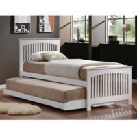 Birlea Furniture Toronto Single Bed With Trundle Guest Bed in White