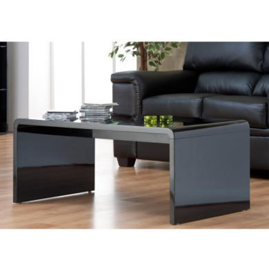 World furniture toscana coffee table in high gloss black - How high should a coffee table be ...