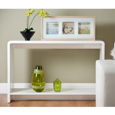 World Furniture Toscana Console Table in High Gloss White
