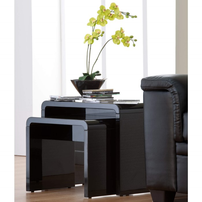 Toscana White High Gloss Coffee Table: World Furniture Toscana Nest Of Tables In Black High Gloss