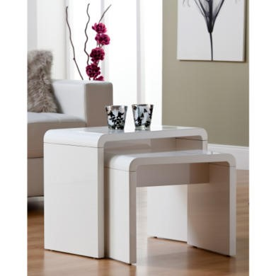 World Furniture Toscana Nest of Tables in White