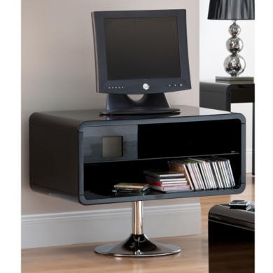 World Furniture Toscana TV Unit in Black High Gloss