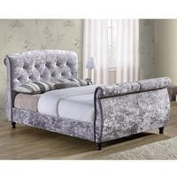 Birlea Toulouse Crushed Velvet Double Bed Grey
