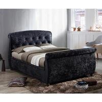 Birlea Toulouse Upholstered Black Double Side Ottoman Bed