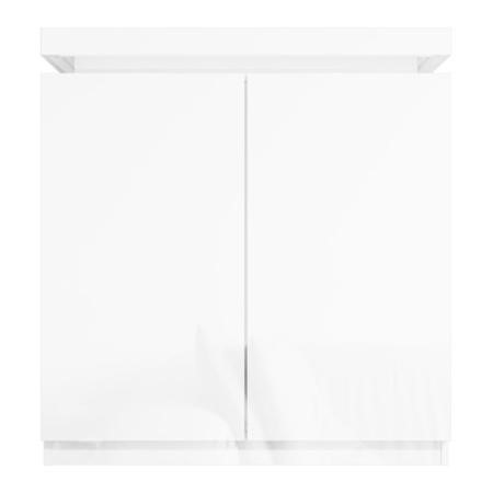 High Gloss White Storage Sideboard with LED Lighting - Tiffany Range