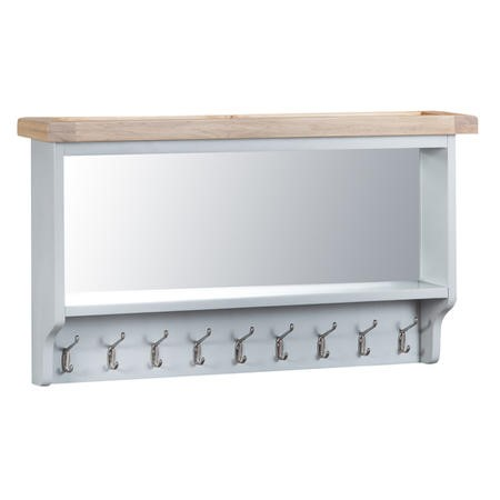 Grasmere Large Hall Wall Mounted Coat Rack in Grey