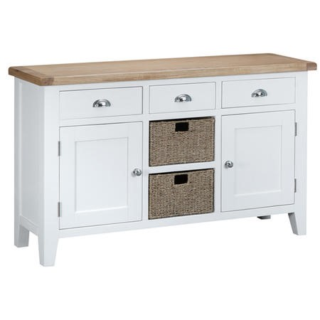 Grasmere Large Sideboard with Baskets in White