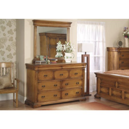 Vida Living Remus 4+3 Drawer Chest in Oak