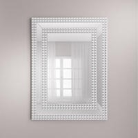 Rectangle Silver Wall Mirror With Cubic Design By Valentina