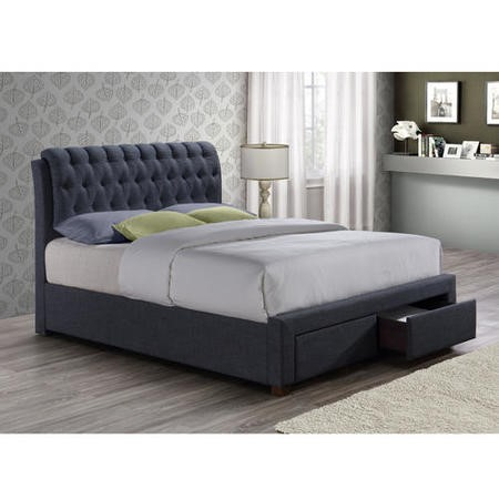 Birlea Valentino 2 Drawer Double Bed Charcoal