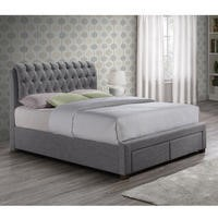 Birlea Valentino 2 Drawer Double Bed Grey