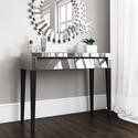 Valentina Venetian Mirrored Dressing Table - Tinted Grey Mirror