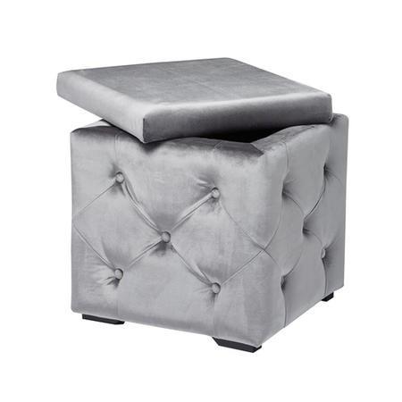 LPD Valentina Velvet Silver Storage Box