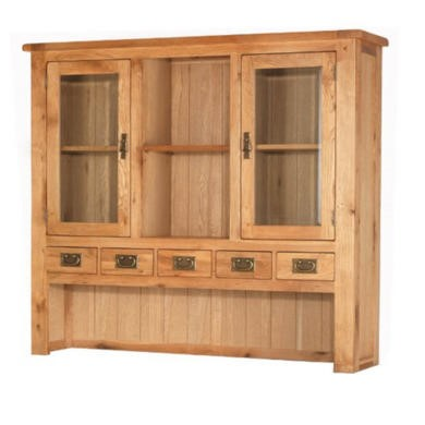 Heritage Furniture Cherbourg Rustic Oak Large Hutch