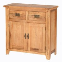 GRADE A1 - Heritage Furniture Cherbourg Rustic Oak Small Sideboard
