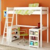 Venus White High Sleeper Bed with Desk