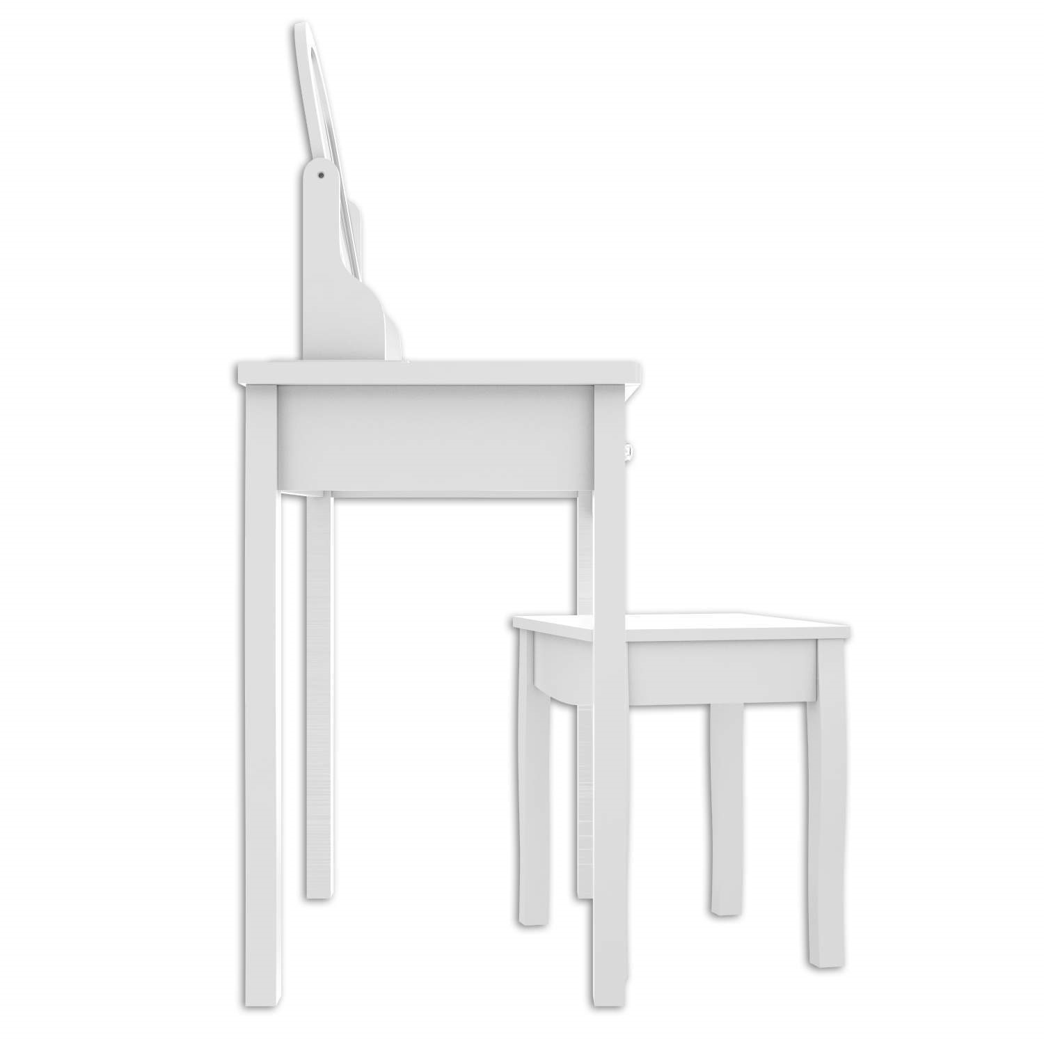 Admirable Victoria Girls White Dressing Table With Stool Mirror Ncnpc Chair Design For Home Ncnpcorg