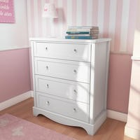 Victoria Girls White 4 Drawer Chest of Drawers