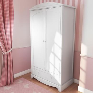 Victoria girls white double wardrobe furniture123 for Furniture 123 wardrobes