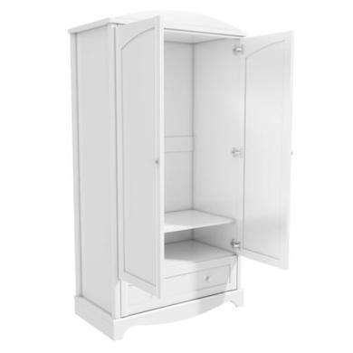 Victoria Girls White Double Wardrobe Furniture123
