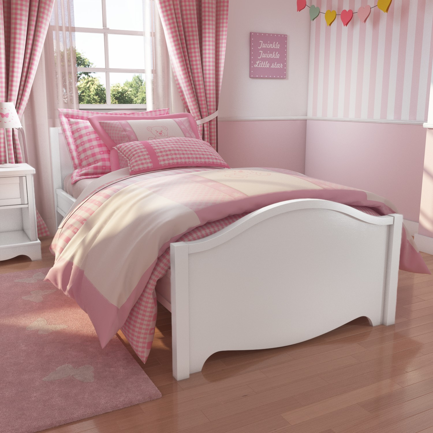 Picture of: Victoria Girls White Single Bed Furniture123
