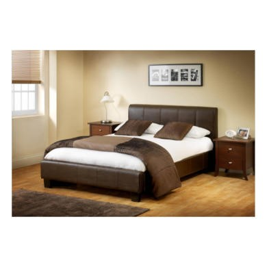 Julian Bowen Vienna Upholstered Brown Bed  Small Double