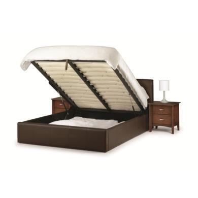 Julian Bowen Vienna Brown Upholstered Double Ottoman Storage Bed  Kingsize