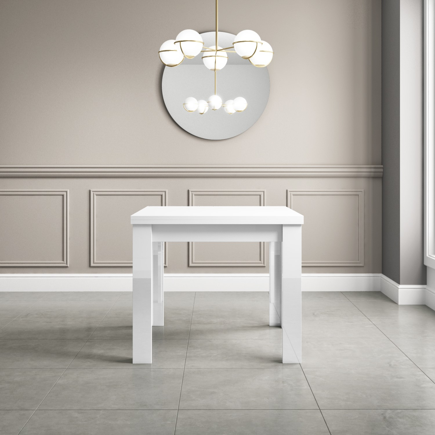 Pleasant White High Gloss Dining Table 4 Seater Flip Top Vivienne Ncnpc Chair Design For Home Ncnpcorg