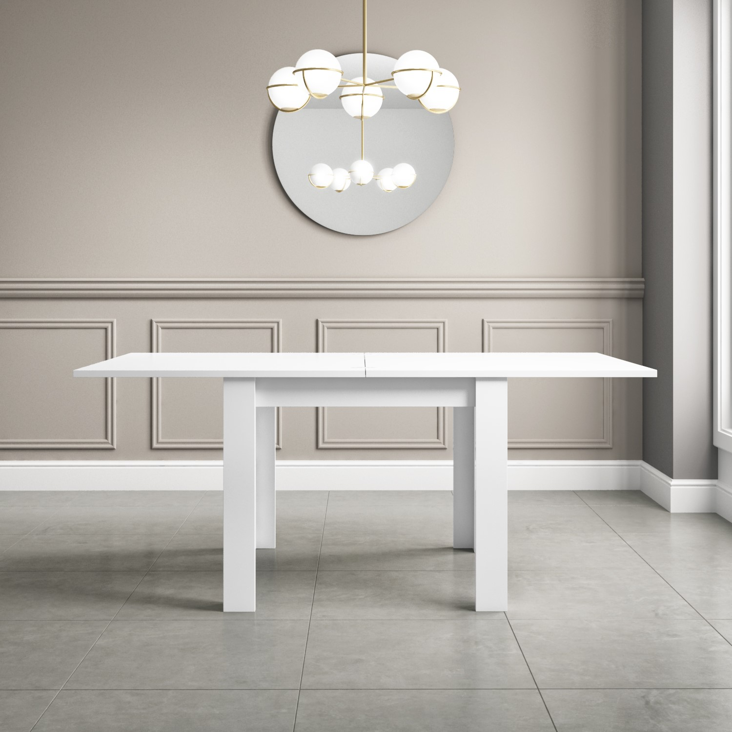 Vivienne Flip Top White High Gloss 4 Seater Dining Table