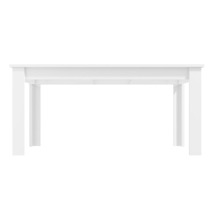 White High Gloss Dining Table 6 Seater Extendable