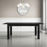 Vivienne Extending Black High Gloss Dining Table