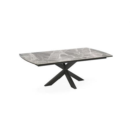 Grey Marble Ceramic Coffee Table - Vida Living-Valerius