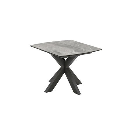Valerius Grey Marble Side Table with Ceramic Top & Metal Legs - Vida Living