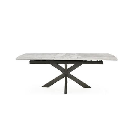 Extendable Dining Table with Grey Ceramic Top & Metal Legs - Vida Living