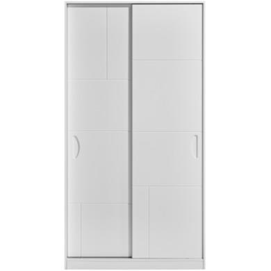 kingstown high gloss white 1 meter sliding wardrobe. Black Bedroom Furniture Sets. Home Design Ideas