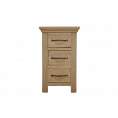 chester oak narrow bedside table furniture123
