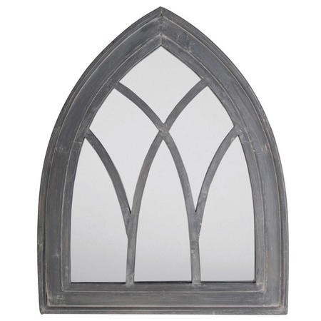 Outdoor Gothic Mirror Grey Wash